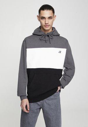 Hoodie - mottled dark grey