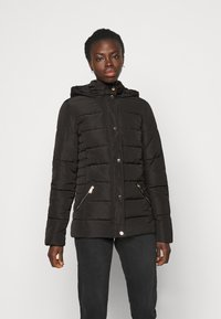 Dorothy Perkins Tall - GLOSSY HOODED JACKET - Winter jacket - black - 0