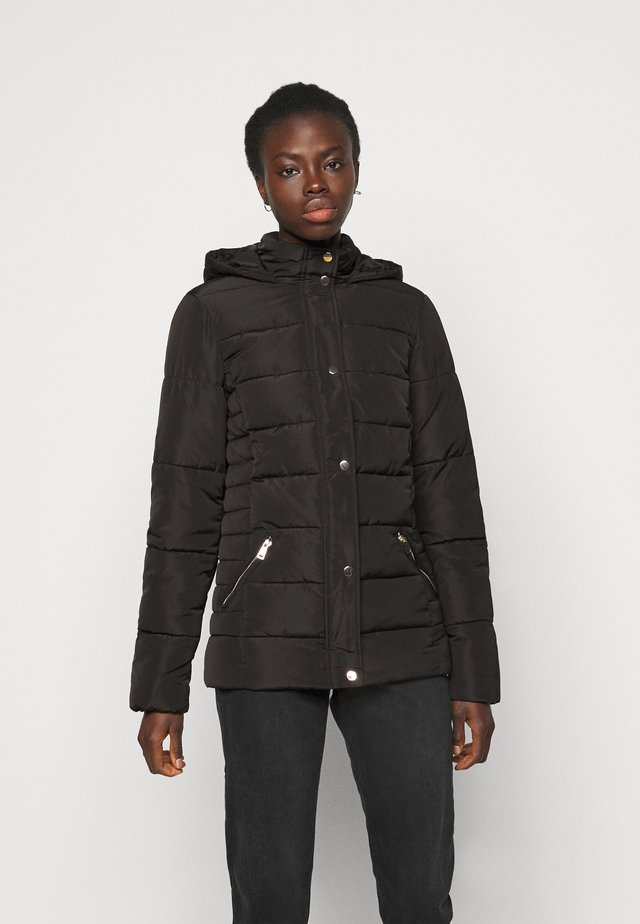GLOSSY HOODED JACKET - Winter jacket - black