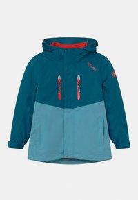 TrollKids - BRYGGEN 2-IN-1 UNISEX  - Hardshellová bunda - petrol/dolphin blue/spicy red - 0
