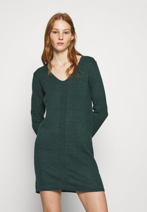 JDYMARCO V NECK DRESS - Strikket kjole - ponderosa pine/melange