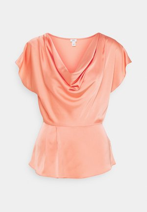 KUNIS COWL - Blouse - coral