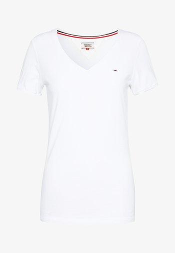 SHORTSLEEVE STRETCH TEE - Basic T-shirt - white