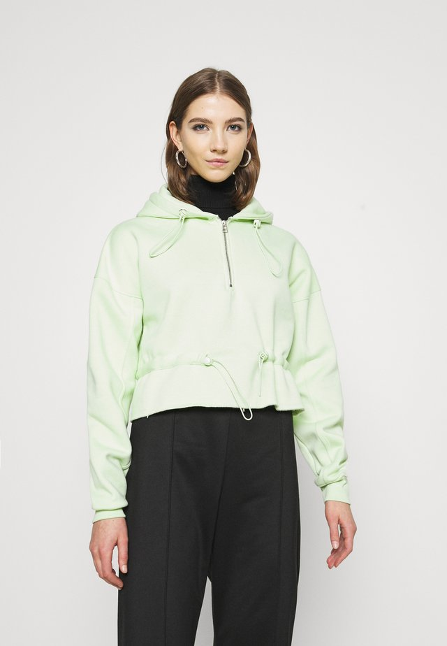 RUCHED DETAIL HOODY - Bluza z kapturem - lime
