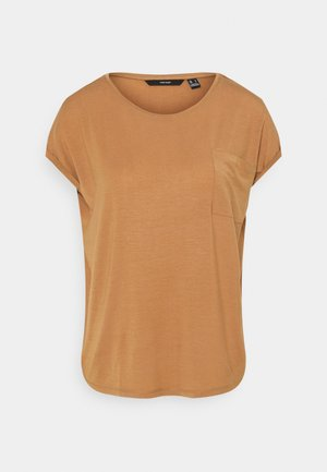 VMDAVA POCKET - T-shirt imprimé - tobacco brown