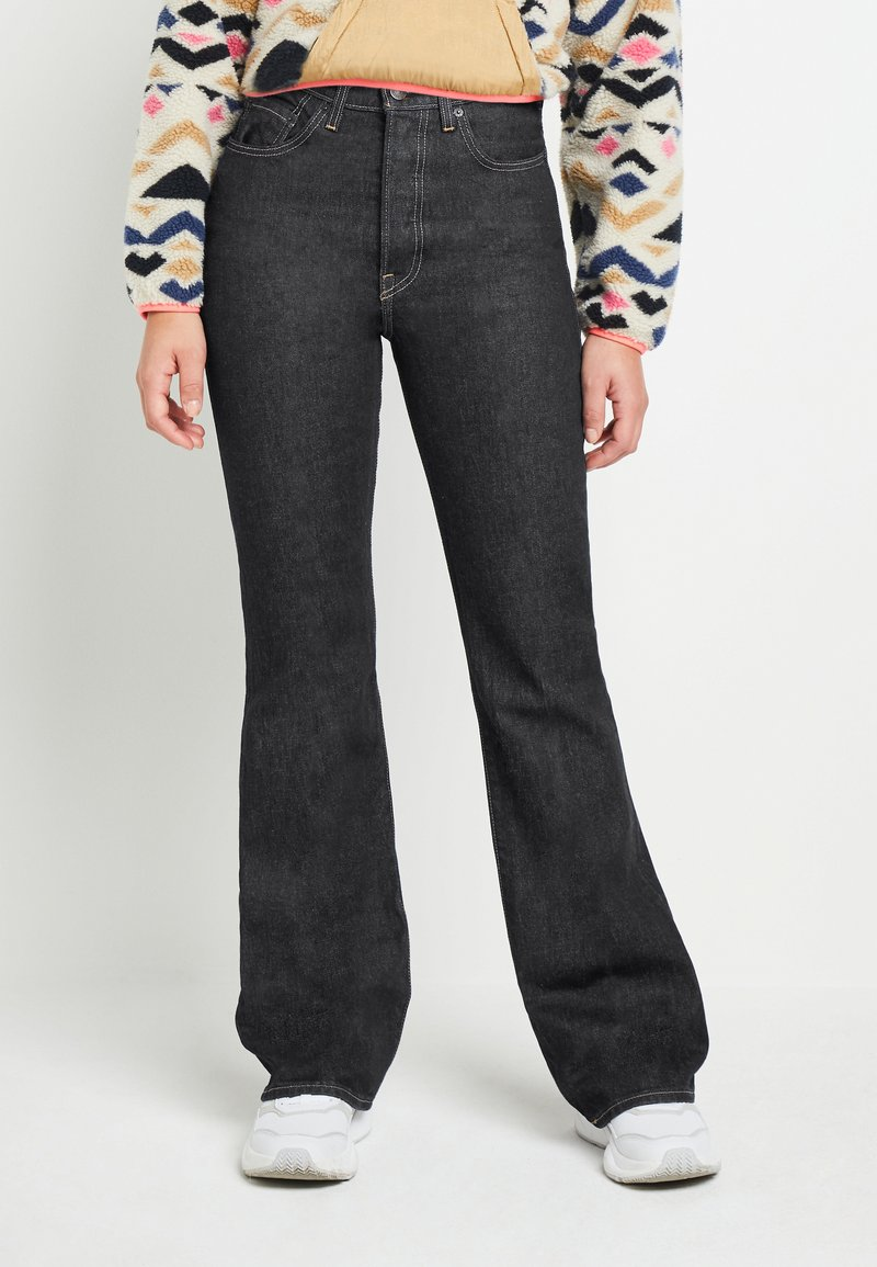 Levi's® - RIBCAGE BOOT - Bootcut jeans - black