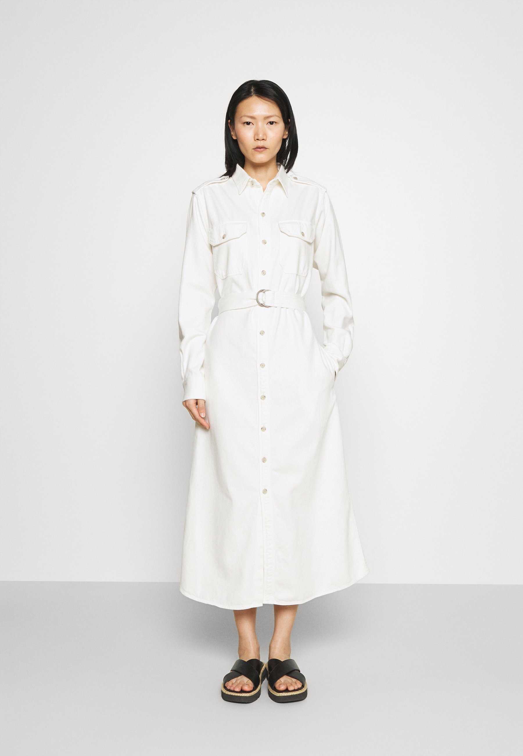 Women LONG SLEEVE CASUAL DRESS - Denim dress