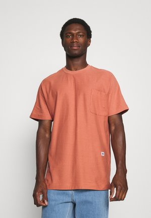 SLHRELAXALBION O NECK TEE - Basic T-shirt - light mahogany