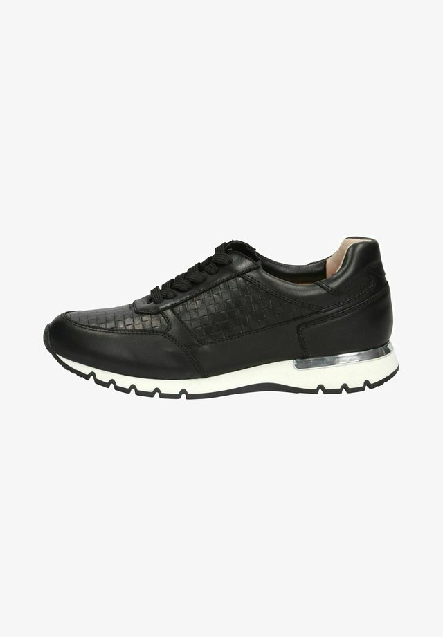 LACE UP - Sneakers laag - black nappa