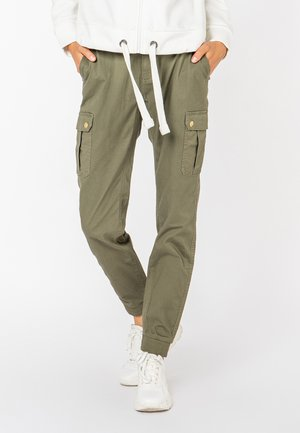 Cargo trousers - middle-green
