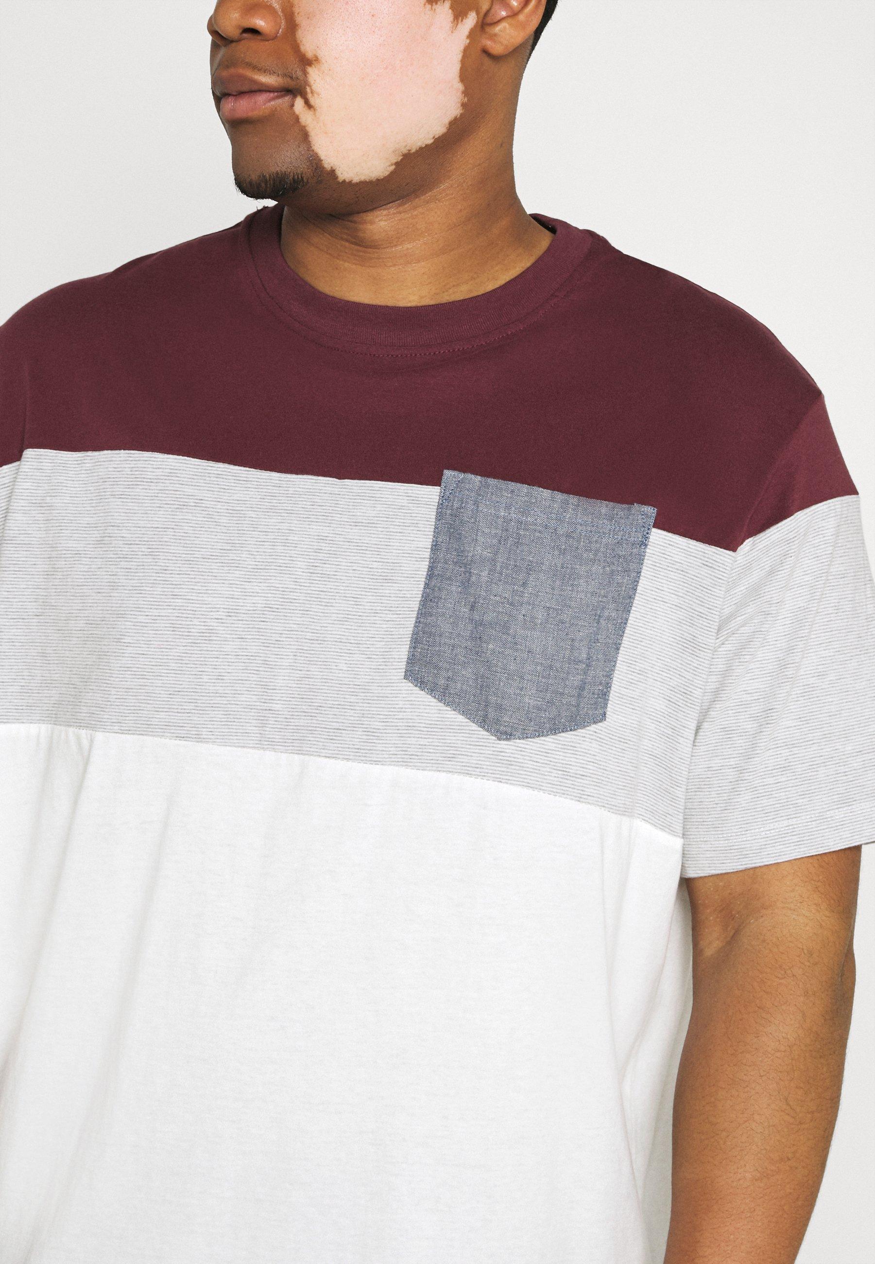 Jack & Jones JJCONTRAST POCKET TEE CREW NECK - Print T-shirt - port royale iGWmp