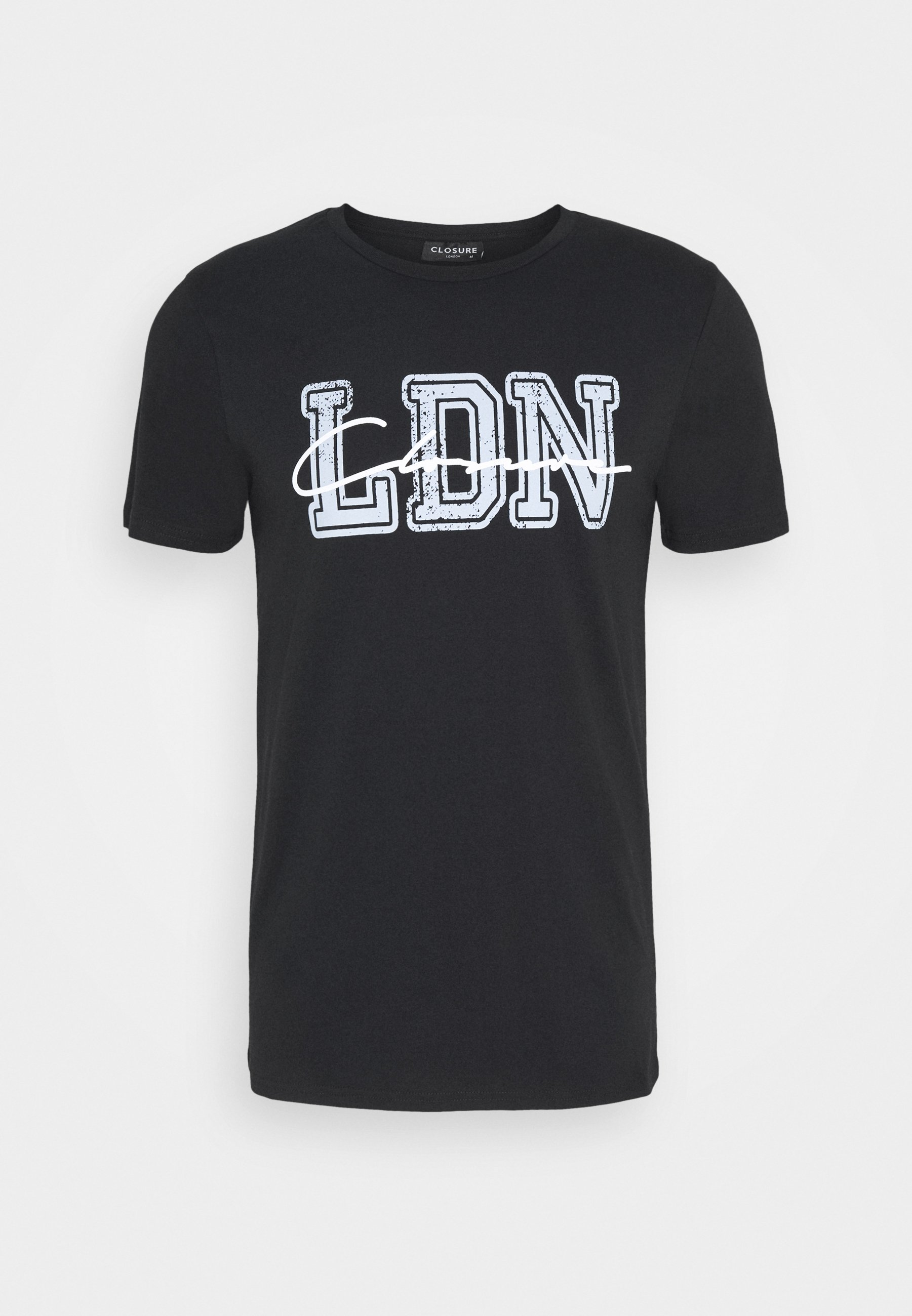 Closure London College Tee - T-shirt Z Nadrukiem Black