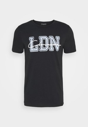 COLLEGE TEE - T-shirt con stampa - black