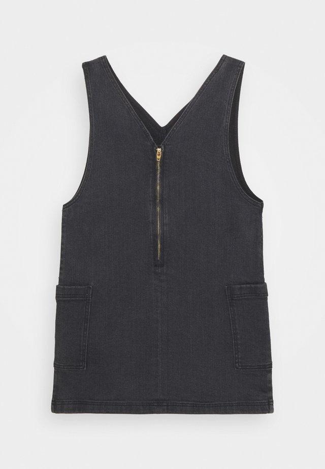 DRESS - Denim dress - dark