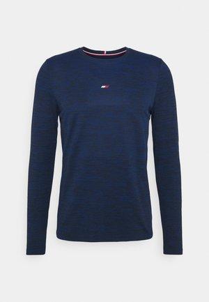LOGO SEAMLESS - Maglietta a manica lunga - blue