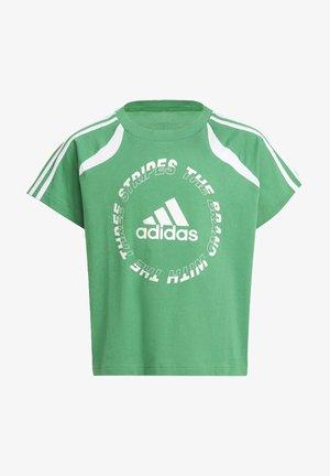G BOLD TEE - Print T-shirt - green