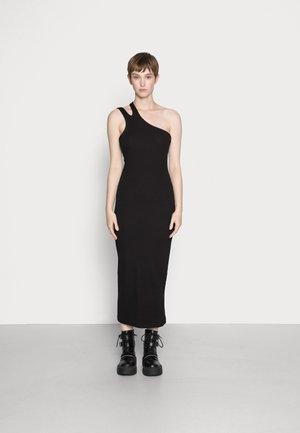 VIC ONE SHOULDER DRESS - Vestido ligero - black