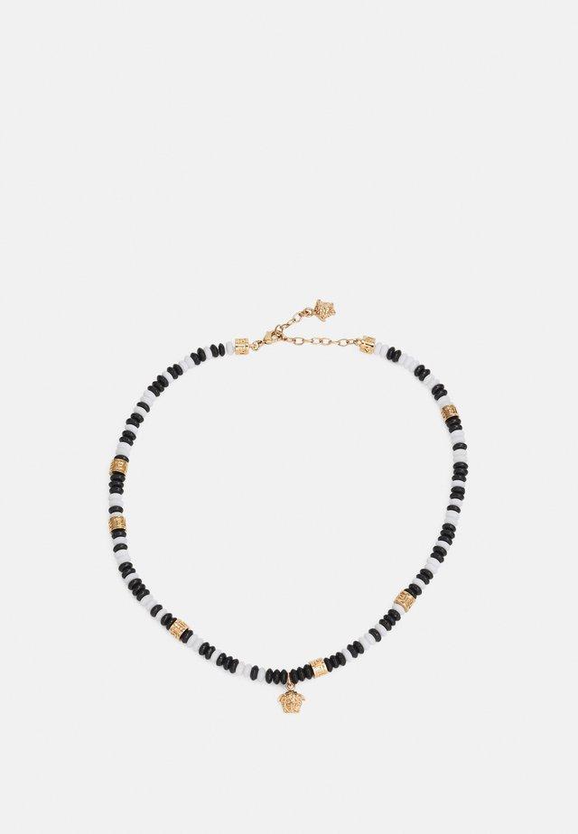 NECKLACE BEADED MEDUSA - Ketting - bianco/nero/gold-coloured