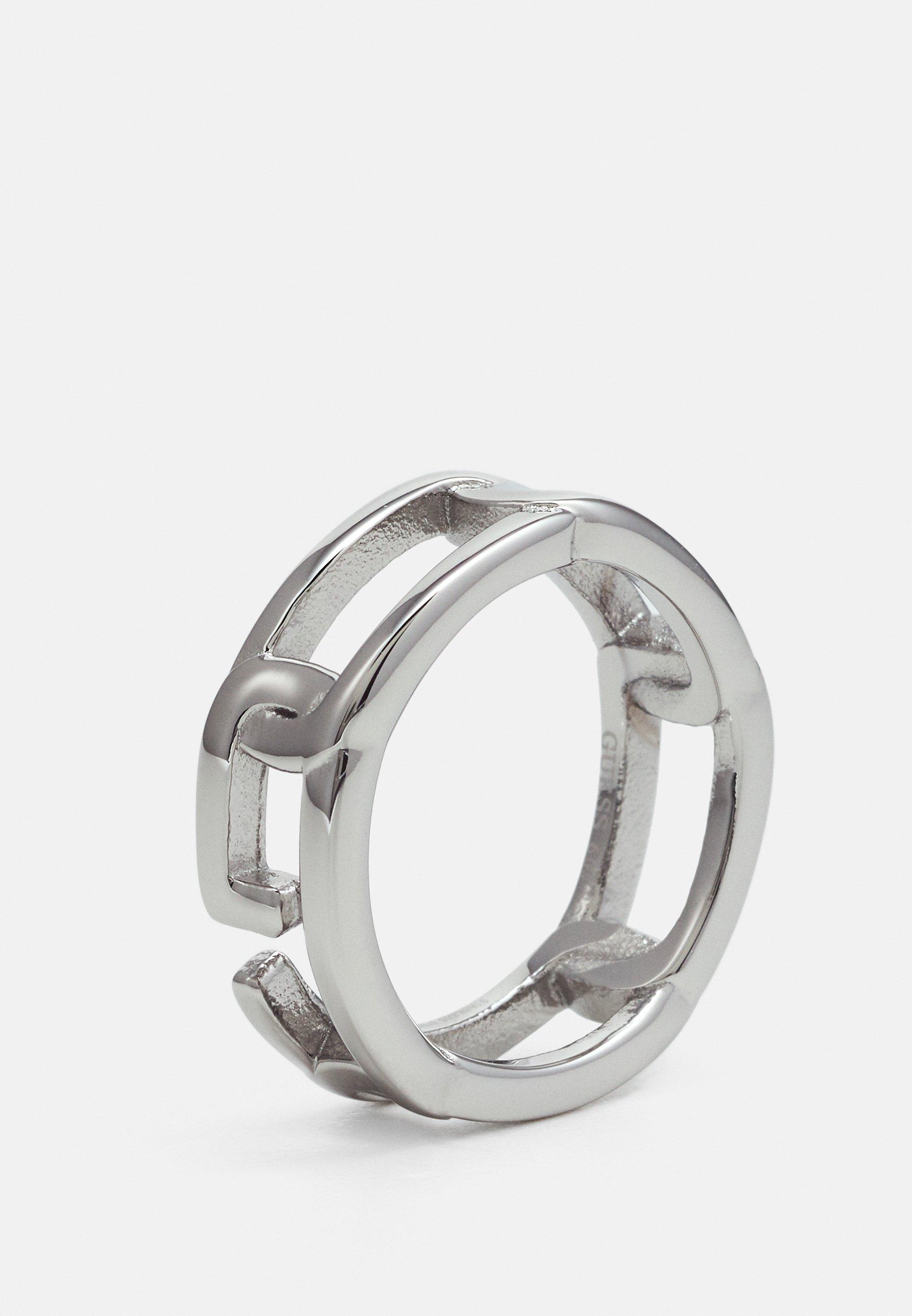 Guess CHAIN ON RAILS - Ring - silver-coloured/sølv 6Bo32bUlDOPYX9J
