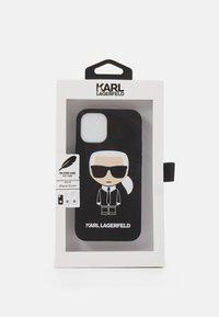KARL LAGERFELD - IKONIK CASE IPHONE 12 MINI - Handytasche - black - 2