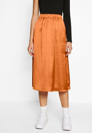 MIDI SKIRT - A-snit nederdel/ A-formede nederdele - canteloupe