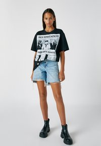 PULL&BEAR - Print T-shirt - black - 3