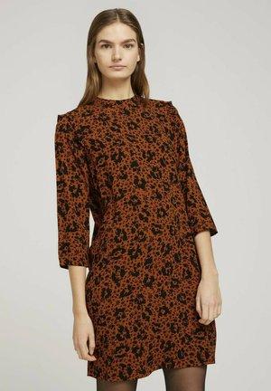 PRINTED MINI DRESS - Day dress - flower leo print