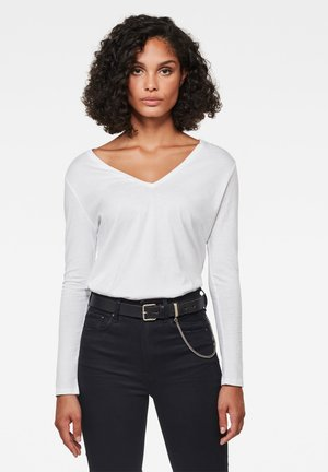 CORE STRAIGHT - Long sleeved top - white