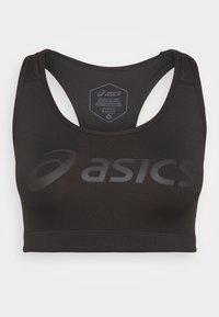 LOGO BRA - Sports-BH-er med medium støtte - performance black/performance black