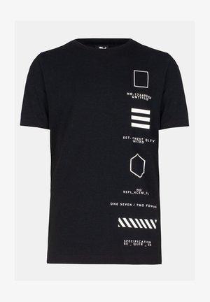 LIAM TSHIRT - Printtipaita - black