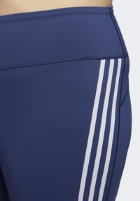 adidas Performance - BELIEVE THIS 3-STRIPES 7/8 LEGGINGS - Tights - blue - 6
