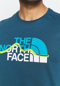 The North Face - MOUNTAIN LINE TEE - T-shirt con stampa - monterey blue - 3