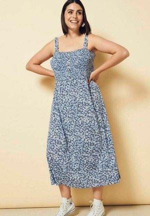 PRINT - Day dress - vintage indigo