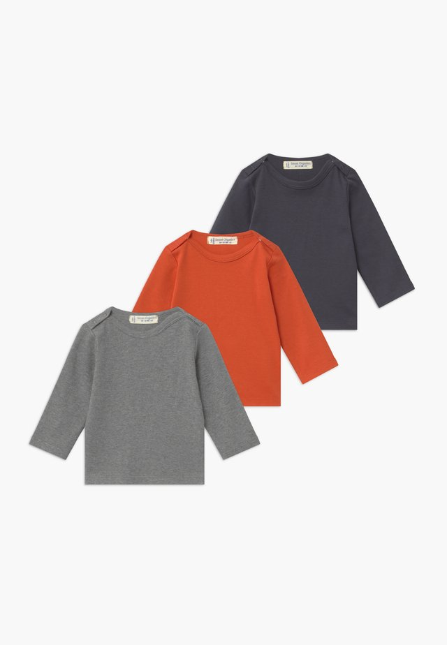 LUNA BABY 3 PACK - Topper langermet - chili/navy/grey