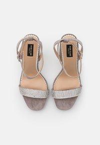 River Island Wide Fit - Platform sandals - grey - 5