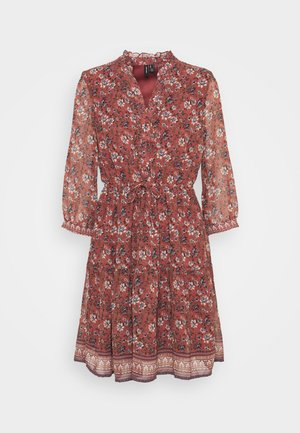 VMBELLA DRESS - Denní šaty - marsala/bella