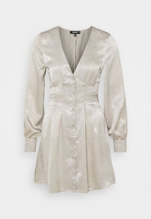 CINCHED WAIST A LINE MINI DRESS - Robe de soirée - cream