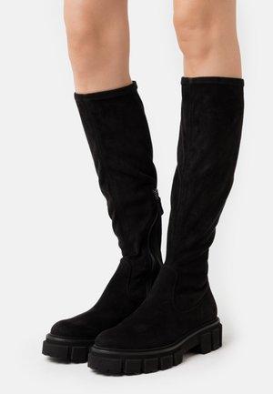 VIDA - Platform boots - black