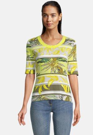 Print T-shirt - green/yellow
