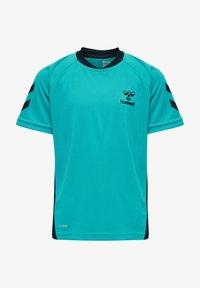 Hummel - ACTION  - Print T-shirt - bluebird/dark sapphire - 0