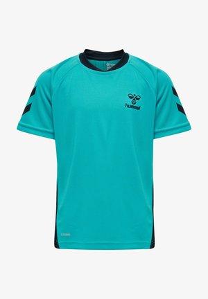 ACTION  - Print T-shirt - bluebird/dark sapphire