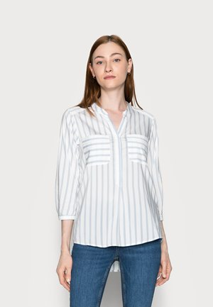 VMERIKA STRIPE - Blouse - snow white/blue fog