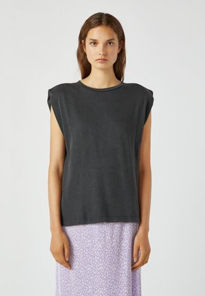 Top - mottled dark grey