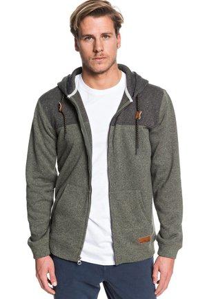 KELLER BLOCK - Zip-up hoodie - thyme heather