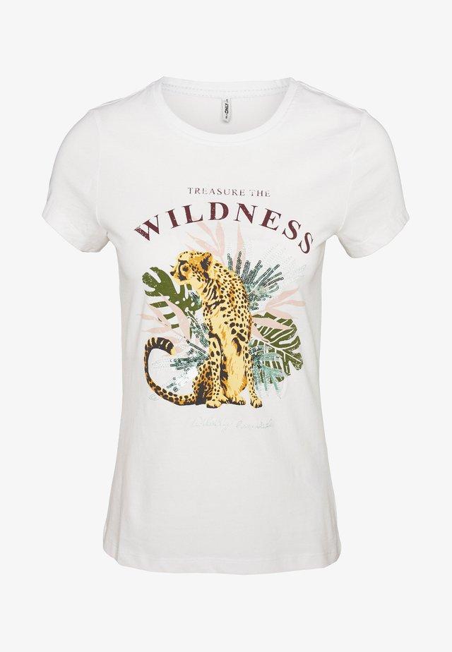 ONLLENA LIFE FIT ANIMAL BOX - Camiseta estampada - bright white
