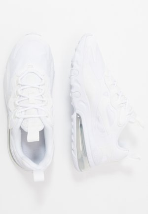 AIR MAX 270 REACT - Sneakers - white/metallic silver