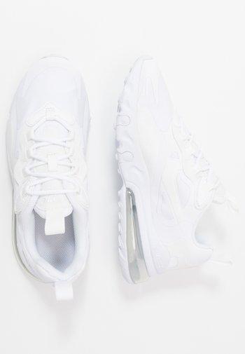 AIR MAX 270 REACT - Sneakers basse - white/metallic silver