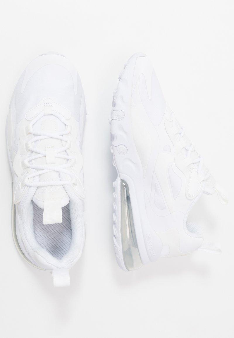 Nike Sportswear - AIR MAX 270 REACT - Sneaker low - white/metallic silver