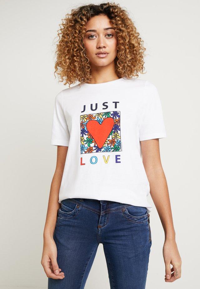 RUNDHALS - T-shirts print - pure white