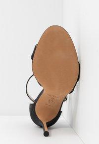 Pura Lopez - Sandalen met hoge hak - glitter black - 6